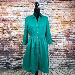 Moulinette Soeurs || Green Shirt Dress